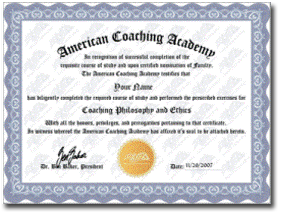 the american coaching academy online coaching With cpe certificate template